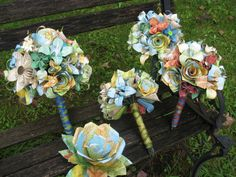 Custom Paper Flower Wedding Packages. YOU CHOOSE Colors, Papers, Flowers. Anything Is Possible. via Etsy