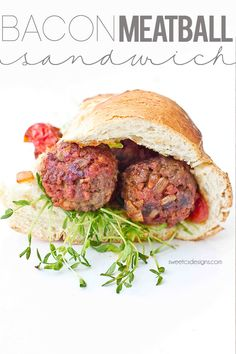 Bacon Meatball Sandwich with Onion Tomato Jam | Sweet C's Designs