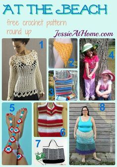 At the Beach free crochet pattern round up from Jessie At Home: