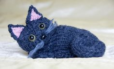 cat knitting pattern - Google Search