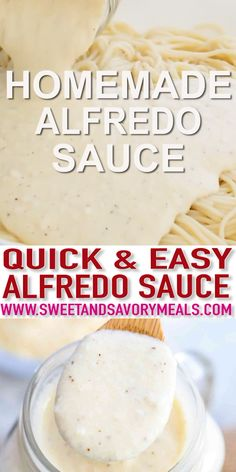 Homemade Alfredo Sauce is rich, creamy, and super easy to make from scratch. It is one of the best recipes you can get that goes perfectly with your favorite pasta or pizza! alfredo sauce videos Best Homemade Alfredo Sauce [Video] - Sweet and Savory Meals Good Food, Yummy Food, Tasty, Alfredo Sauce Recipe Easy, Alfredo Sauce With Milk, Keto Alfredo Sauce, Fettuccine Sauce Recipe, Alfredo Sauce Recipe No Heavy Cream, Alfredo Sauce Recipe With Half And Half