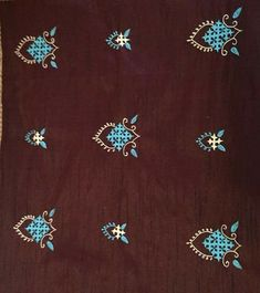 Embroidery On Kurtis, Hand Embroidery Dress, Embroidery Neck Designs, Hand Embroidery Videos, Embroidery Saree, Hardanger Embroidery, Hand Embroidery Stitches, Ribbon Embroidery, Kutch Work Designs