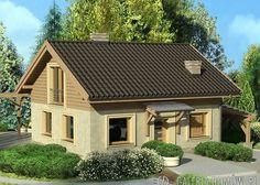 Proje ev: Ev İmbirowej - önden Görünüm Two Bedroom House, Favorite Paint Colors, Concept Home, Design Case, Cottage Homes, Home Fashion, House Floor Plans, Future House, Tiny House
