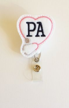 Physician Assistant Felt Badge Reel  by SimplyReelDesigns on Etsy