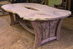 Fine Wood Table Designs Look around as you move throughout your day. From mailbox posts to pieces of furniture and art to full buildings, the power to use wood to create is Diy Outdoor Table, Diy Dining Table, Rustic Table, Wooden Tables, Rustic Log Furniture, Unique Furniture, Wood Furniture, Mesquite Wood, Wood Table Design