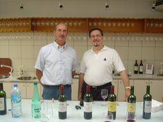 Mark Vogel with Bruno Rolland, the Cellar Master of Chateau Leoville Las Cases in 2007.