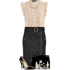 Belted Skirt Entry #2, created by nessiecullen2286 on Polyvore