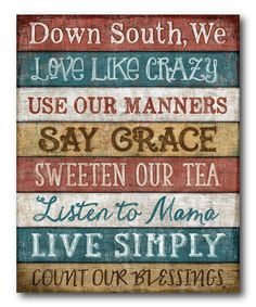 'Down South' Gallery-Wrapped Canvas | zulily