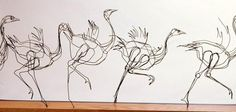 "Tom Hill wire ""drawings"""
