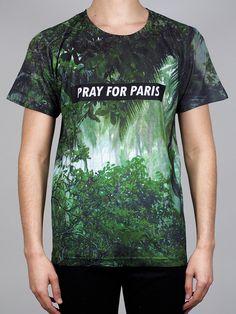 Image of Pray for PARIS 'Rainforest' t-shirt (March Pray For Paris, Modern Street Style, Menswear, Mens Fashion, Unisex, Mens Tops, T Shirt, Clothes, 18th