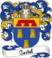 Castel Coat of Arms  Castel Family Crest   VIEW OUR FRENCH COAT OF ARMS / FRENCH FAMILY CREST PRODUCTS HERE