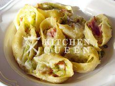 Κοχύλια γεμιστά με ζαμπόν και κολοκυθάκια - Συνταγές Kitchen Queen Pasta Dishes, Cabbage, Tacos, Cooking Recipes, Mexican, Vegetables, Ethnic Recipes, Food, Chef Recipes