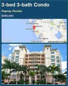 3-bed 3-bath Condo in Osprey, Florida ►$395,000 #PropertyForSale #RealEstate #Florida http://florida-magic.com/properties/78097-condo-for-sale-in-osprey-florida-with-3-bedroom-3-bathroom