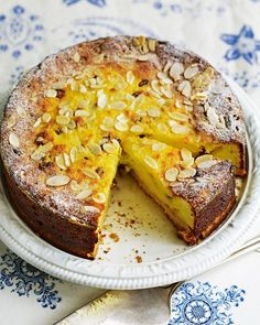 Debbie Major's lemony torte, studded with plump, juicy sultanas, is best served warm or at room temperature rather than chilled from the fridge.