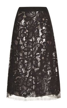 Lace Skirt With Silver Silk Lame Lining by Tome - Moda Operandi