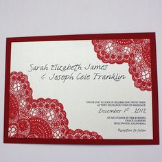 #DeepRed Wedding Invitation