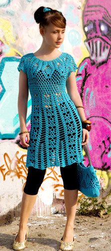 MADE TO ORDER summer crochet tunic R50 by CottonMystery on Etsy