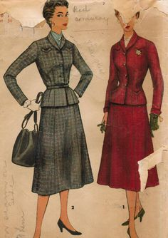 1950s Simplicity 4846 Vintage Sewing Pattern by midvalecottage, $12.00