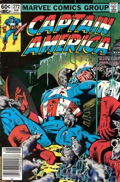 Captain America 272 A, Aug 1982 Comic Book by Marvel Marvel Comics Superheroes, Marvel Comic Books, Comic Book Heroes, Comic Books Art, Star Comics, Comic Art, Jack Kirby, Captain America Comic Books, Make A Comic Book