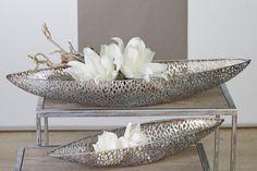 "Designer Schale ""Purley "" Metall antik-silber: Amazon.de: Küche & Haushalt"