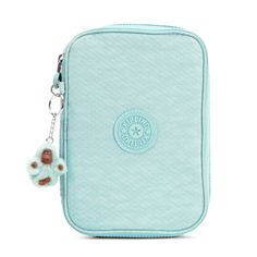 100 Pens Case - Dots Seafoam Green