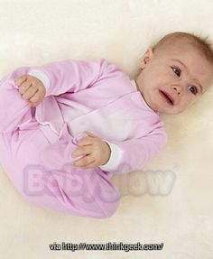 BabyGlow Temperature Changing Bodysuit: onesie changes to white when the baby's temperature reaches anything over 98.6º