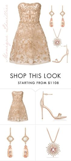 """Exquisite"" by engleann ❤ liked on Polyvore featuring Monique Lhuillier, Gianvito Rossi, NSR Nina Runsdorf and David Yurman"