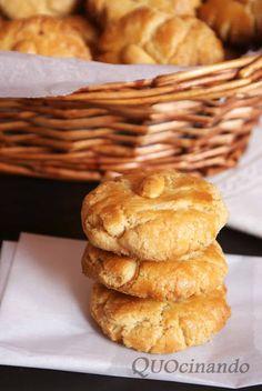 Quocinando: Dulces de la abuela: Perronillas salmantinas y ros... Pasta Casera, Gooey Cookies, Biscuits, Flan, Apple Pie, Hamburger, Brownies, Muffin, Bread