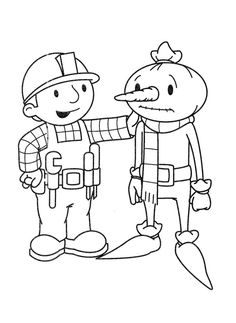 bob the builder encourage coloring page for kids