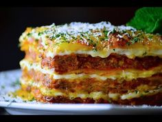 The ultimate comfort food lasagna, with layers of rich homemade meat sauce, creamy béchamel sauce , noodles , cheese and fresh mozzarella . Homemade Meat Sauce, Homemade Lasagna, Pasta Recipes, Beef Recipes, Cooking Recipes, Italian Dishes, Italian Recipes, Lasagna Casserole, Fresh Mozzarella