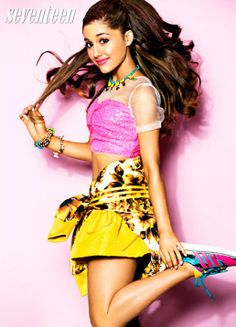 Ariana Grande Seventeen magazine photoshoot for August 2013 cover story
