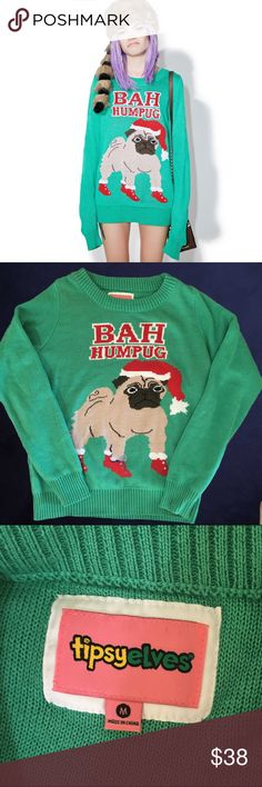 Bah Humpug Christmas Sweater Worn once or twice, excellent pre-owned condition. Tipsy Elves Sweaters