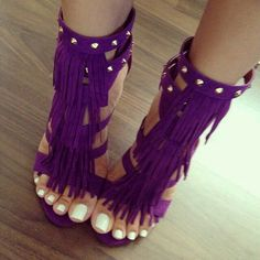 Women Sexy Shoes High Heel Sandals Purple Open Toe T Type Buckle Detail Sandal Shoes With Tassels Hot Shoes, Crazy Shoes, Me Too Shoes, Sexy Heels, High Heels, Women's Heels, Strappy Heels, Heeled Boots, Shoe Boots