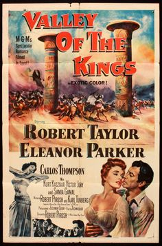 mgm movie posters 1954 | VALLEY OF THE KINGS -ONE SHEET