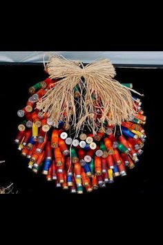 Shot gun shell wreath! Thinking about making one of these for the coon club!