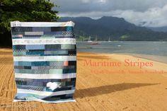 Maritime stripes Nautical Quilt tutorial