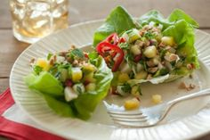 Pineapple and Water Chestnut Lettuce Wraps