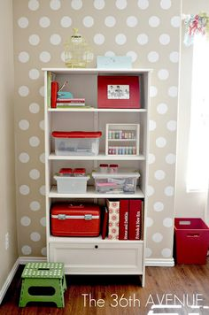 I love polka dots ... and I think this is an adorable idea for Emilys room? or the spare room?