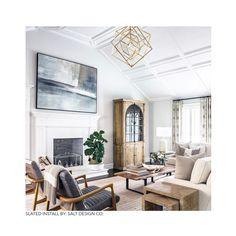 Home Living Room, Living Room Designs, Living Room Decor, Living Room Chandeliers, Family Room Chandelier, Transitional Living Rooms, Transitional House, Elegant Home Decor, Elegant Homes