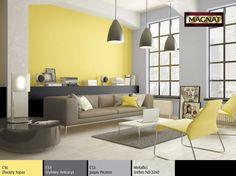 magnat_2015_salon_w_kolorze_tym_z_szarociami_magnat_2015 Sofa, Couch, Salons, Ceiling Lights, Living Room, Grey, Inspiration, Furniture, Home Decor