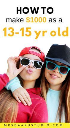 Online Jobs For Teens, Easy Online Jobs, Easy Jobs, Online Work, Ways To Get Money, Make Money Fast, Making Money Teens, How To Earn Money For Teens, Extra Money
