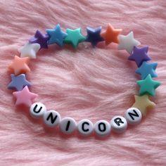 UNICORN Bracelet Pastel Goth Kawaii Cute ($3.47) ❤ liked on Polyvore featuring jewelry, bracelets, gothic jewellery, pastel jewelry, gothic jewelry, goth jewelry and unicorn jewelry