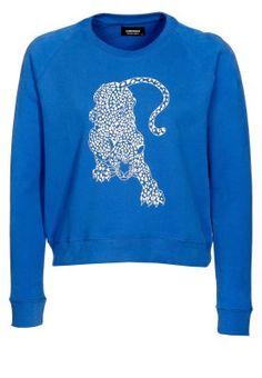 A QUESTION OF LEOPARD SWEATSHIRT Sweatshirt blue