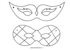 carnevale maschere da colorare maschere