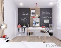 PROJEKT MIESZKANIA 55 m2 - Pokój dziecka, styl nowoczesny - zdjęcie od STUDIO MAC