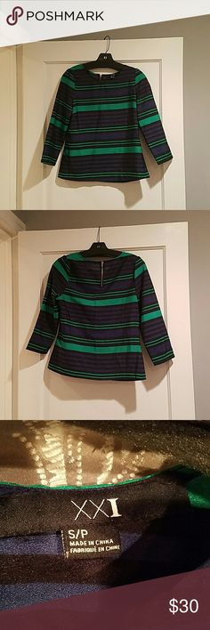 Striped top Slightly shiny striped top. Boxy cut is flattering for any figure. Forever 21 Tops Blouses