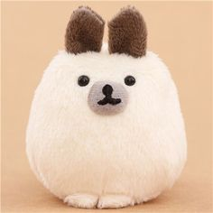 Cream-grey Mofutans mochi rabbit plush toy by San-X from Japan $6.37 http://thingsfromjapan.net/cream-grey-mofutans-mochi-rabbit-plush-toy-san-x-japan/ #mofutans mochi bunny #san x products #kawaii Japanese stuff