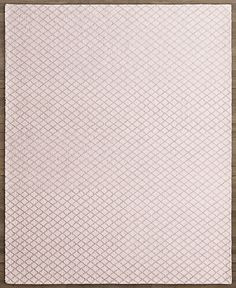 RH Baby & Child's Dorset Trellis Rug:Hand woven from wool and cotton, this looped rug features a linear lattice in soft pastels for an understated and versatile backdrop. Loomed in an indulgent looped texture, the pile is invitingly soft and exceptionally long wearing – a perfect balance for busy kids' rooms. Slightly uneven, hand-stitched edges enhance the rug's casual look.