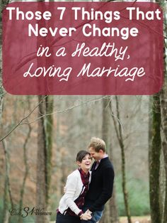Marriage is often full of changes - a new job, a new move, children, and more. But what are those things that keep a marriage strong and steady through it all? Those 7 Things That Never Change in a Healthy, Loving Marriage - Godly Marriage, Marriage Relationship, Marriage And Family, Happy Marriage, Marriage Advice, Marriage Goals, Strong Marriage, Christian Wife, Christian Marriage