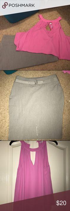 Express business skirt and top Pencil skirt size 4 and Nordstrom top size S Express Skirts Pencil